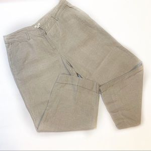 J.Jill•Linen Cuffed Wide Leg Culottes 12